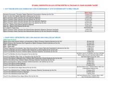2014-2015-Akademik Takvim