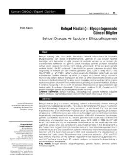 Behçet Hastalığı: Etyopatogenezde Güncel Bilgiler
