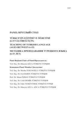 (6-15 yaş öbeği için) - teachıng of turkısh language (ages