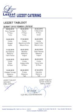 LezT~b~! LEZZET CATERING