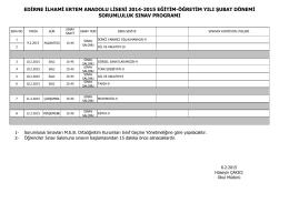 edirne ilhami ertem anadolu lisesi 2014-2015 eğitim