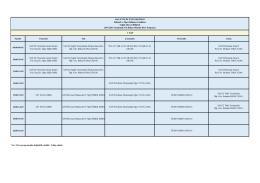 2014-2015 Bahar Dönemi Sağlık Kurumları Yönetimi Lisans Ders