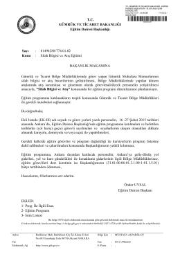 Silah Bilgisi ve Atış E - Gümrük ve Ticaret Bakanlığı Eğitim Dairesi