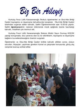 Kurtuluş Fevzi Lütfü Karaosmanoğlu İlkokulu öğretmenleri ve Okul