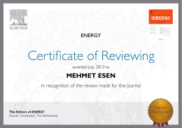 MEHMET ESEN The Editors of ENERGY