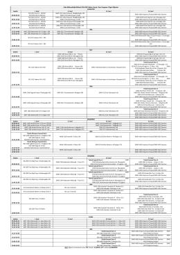 2014-2015 bahar yarıyılı ders programı