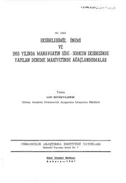 007 - Doğu Karadeniz Ormancılık Araştırma Enstitüsü Müdürlüğü