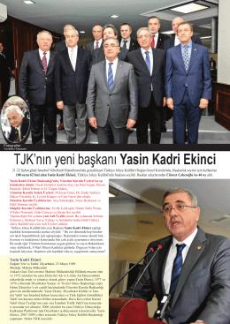 TJK`nın yeni başkanı Yasin Kadri Ekinci