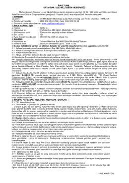 Kanuni Anadolu Lisesi Kantin İhale İlanı 19.02.2015 16:47