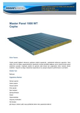 Master Panel 1000 WT Cephe