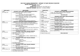 2014-2015 Bahar Dönemi Bilgisayar Uygulamaları II Dersi Haftalık
