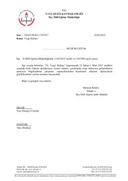 Vergi Haftası - yayladağı ilçe millî eğitim müdürlüğü