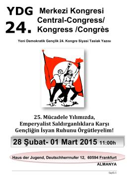 türkçe - Yeni Demokratik Gençlik
