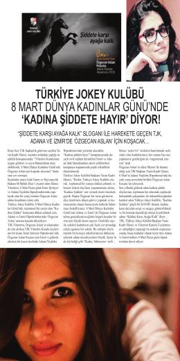 türkiye jokey kulübü 8 mart dünya kadınlar günü`nde