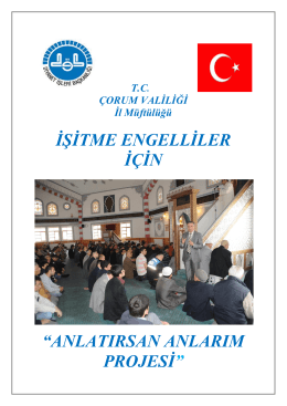 """İŞİTME ENGELLİLER İÇİN """"ANLATIRSAN"""