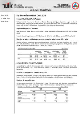 Dış Ticaret İstatistikleri-(Ocak 2015-27.02.2015)