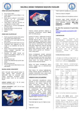 Balonlu Araba Yarışması ile ilgili detaylı bilgiler ait broşürü indirmek