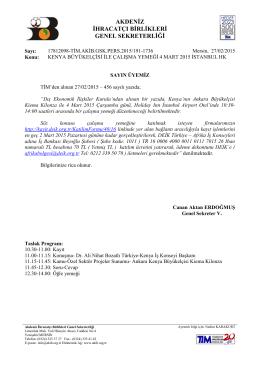 kenya büyükelçisi ile çalışma yemeği 4 mart 2015 istanbul hk