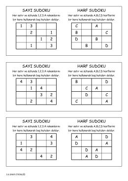 Sudoku1 - Kartanelerim.com