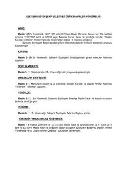 Madde 1 - Eskişehir Büyükşehir Belediyesi