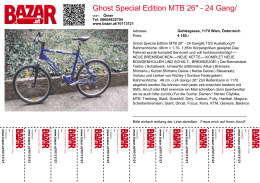 "Ghost Special Edition MTB 26"" - 24 Gang/ Großer Service"