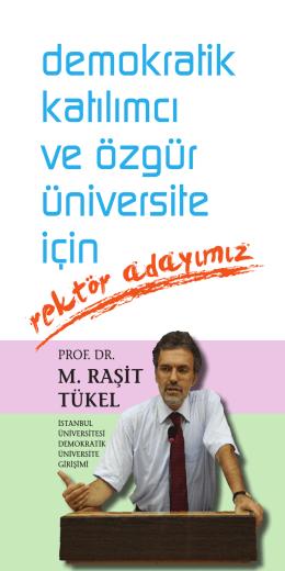 demokratik katılımcı ve özgür üniversite için