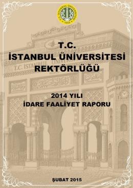 2014 Yılı İdare Faaliyet Raporu
