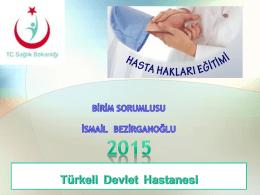 2015 yılı hasta hakları eğitimi