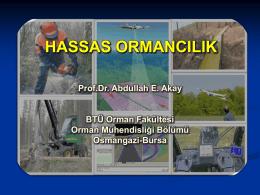Hassas Ormancılık Prof. Dr. Abdullah E. Akay