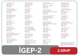 2.Grup Ders Programı