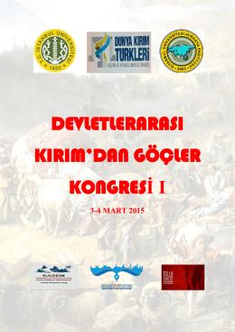 kırım göçleri kongresi