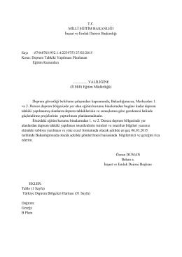 T.C. MİLLÎ EĞİTİM BAKANLIĞI İnşaat ve Emlak Dairesi Başkanlığı