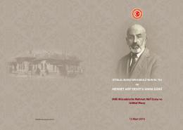 İstiklal Marşı`nın Kabulü`nün 94. Yılı ve Mehmet Akif Ersoy`u Anma