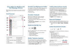 Cisco Jabber for Windows 10.6 Hızlı Başlangıç Kılavuzu