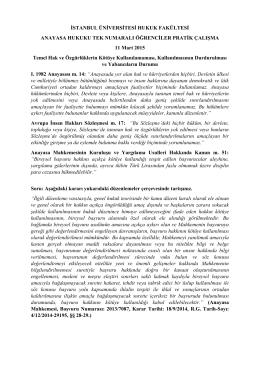 İSTANBUL ÜNİVERSİTESİ HUKUK FAKÜLTESİ ANAYASA