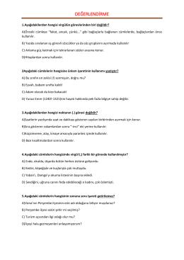 Ara sınav çalışma soruları (PDF)