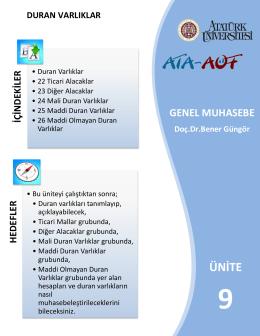 Duran Varlıklar - Lms - Atatürk Üniversitesi