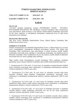 karar 298 fenerbahçe ülker – istanbul büyükşehir belediyesi tbl