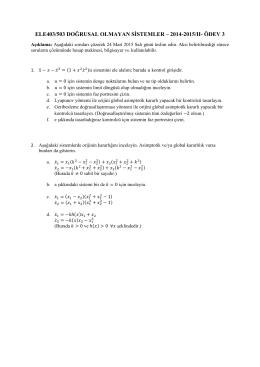 ele403/503 doğrusal olmayan sistemler – 2014