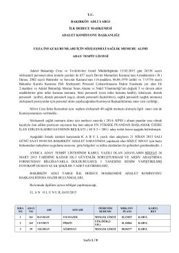 Silivri Ceza İnfaz Kurumları için Sözleşmeli Sağlık