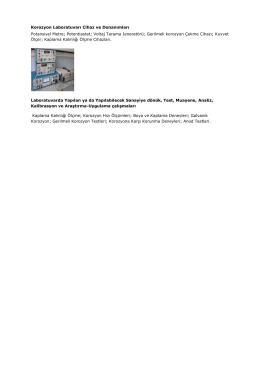 Korozyon Laboratuvarı Cihaz ve Donanımları Potansiyel Metre