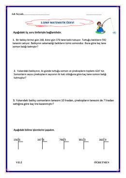 3.sınıf matematik ödevi