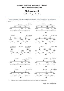 Kesit Tesiri Diyagramları Ödevi - Mühendislik Fakültesi
