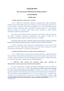2015 mart kpdk taleplerimiz - Sağlık-Sen