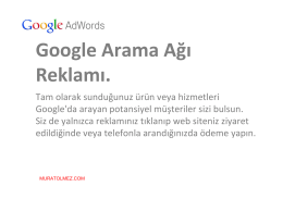 google arama ağı reklam