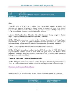 Sirküler MDYMM/2015/6