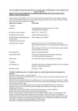 Üst Yapı İhaleİlanı.pdf - Kastamonu Orman Bölge Müdürlüğü