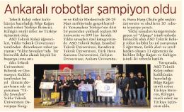 AnkaralI robotlar şampiyon oldu