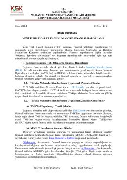 KGK tarafından Yeni Türk Ticaret Kanunu`na göre