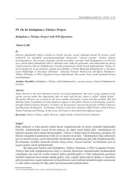 5N 1K ile Kütüphan-e Türkiye Projesi